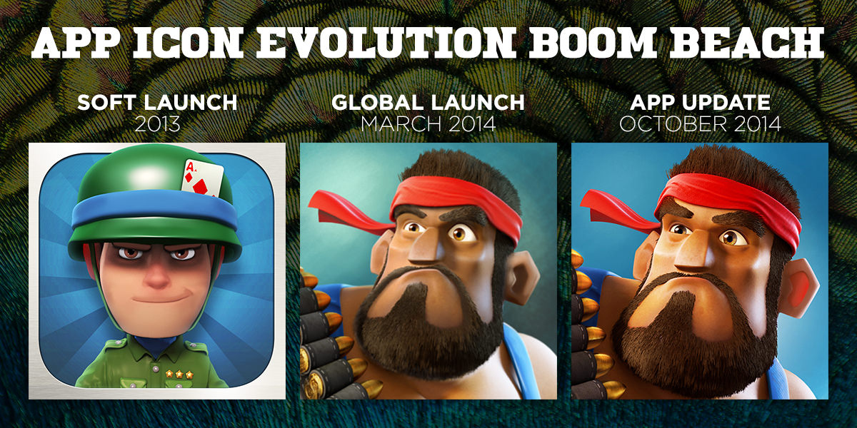 Boom Beach App icon evolution