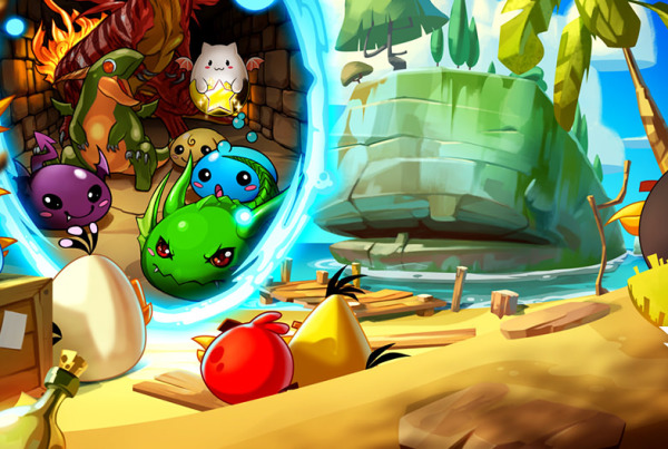 Angry Birds Epic and Puzzle & Dragons Cross-Promotion Banner