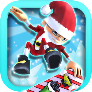 Epic Skater Holiday Christmas Game App Icon 2015