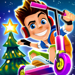 Skyline Skaters - Holiday Christmas Game App Icon 2015