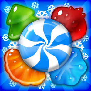 Yummy Gummy - Holiday Christmas Game App Icon 2015
