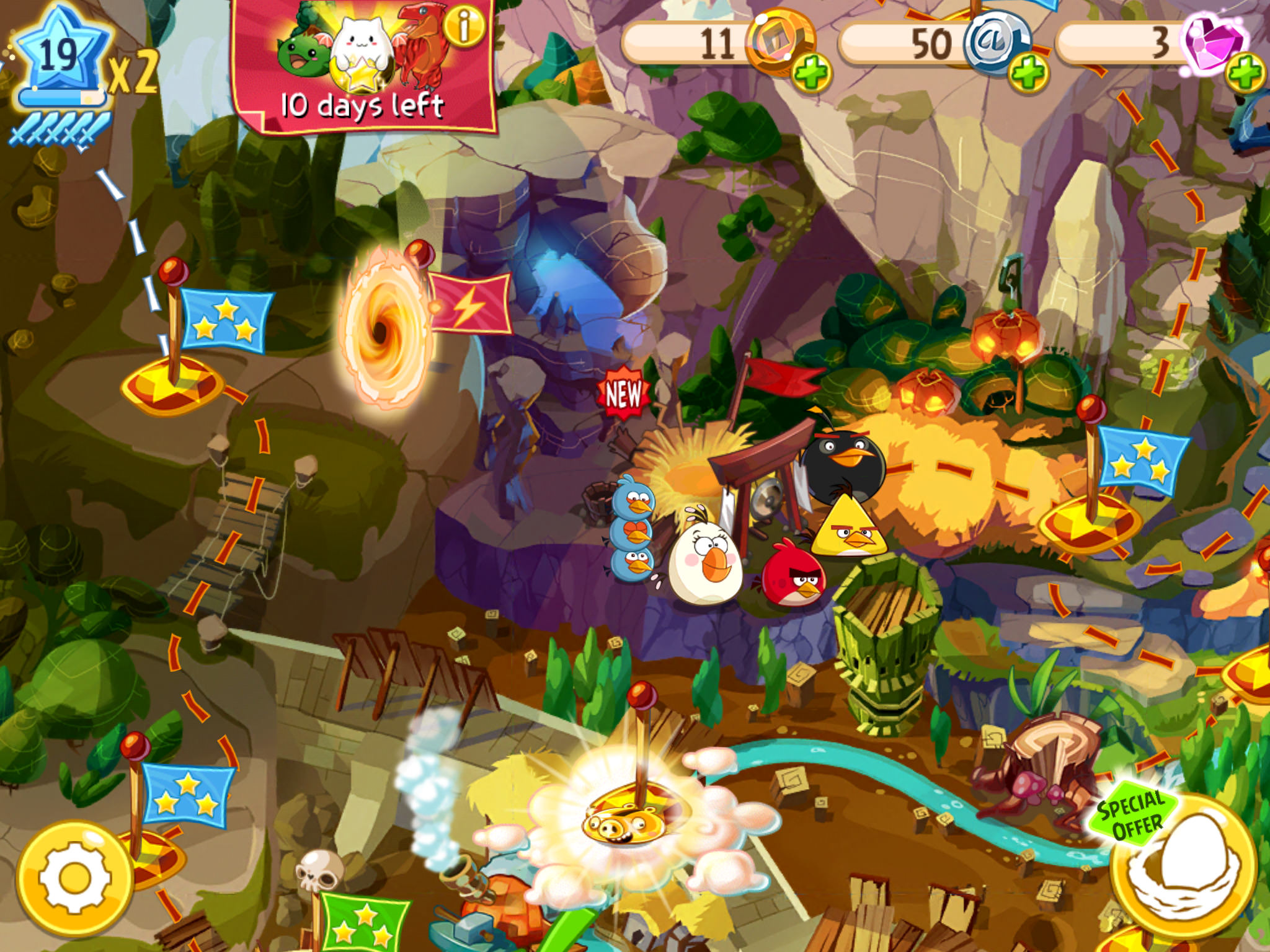 Angry Birds and Puzzle and Dragons partnership - World Map