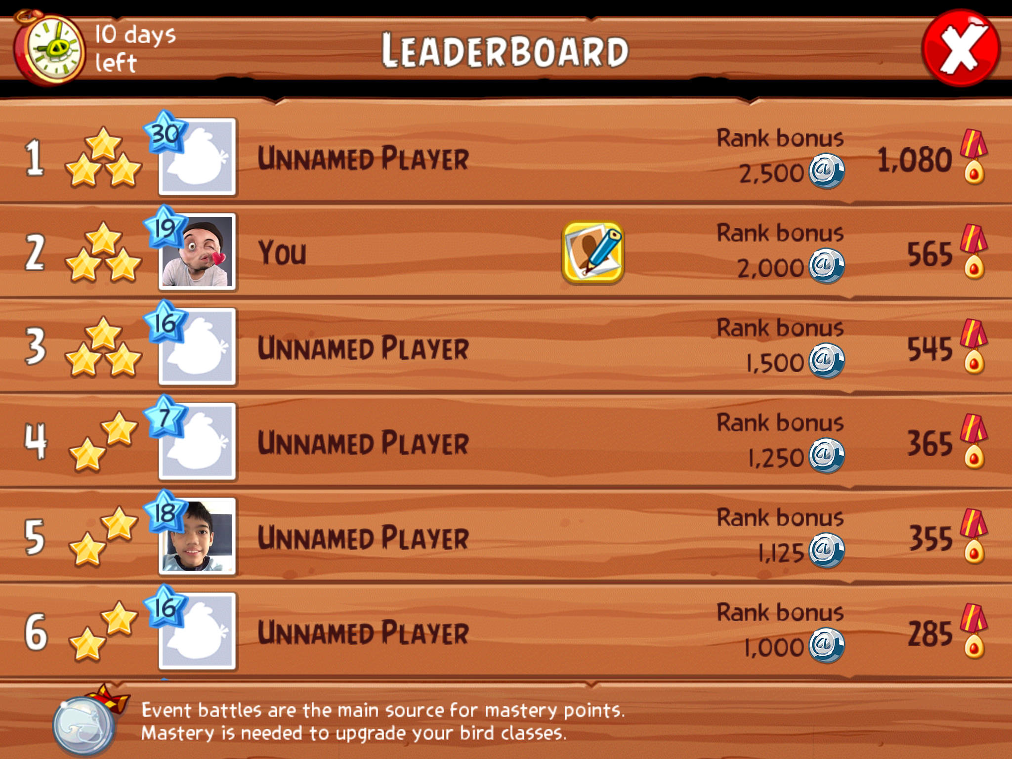 Angry Birds and Puzzle and Dragons partnership - Competitive Leaderboards