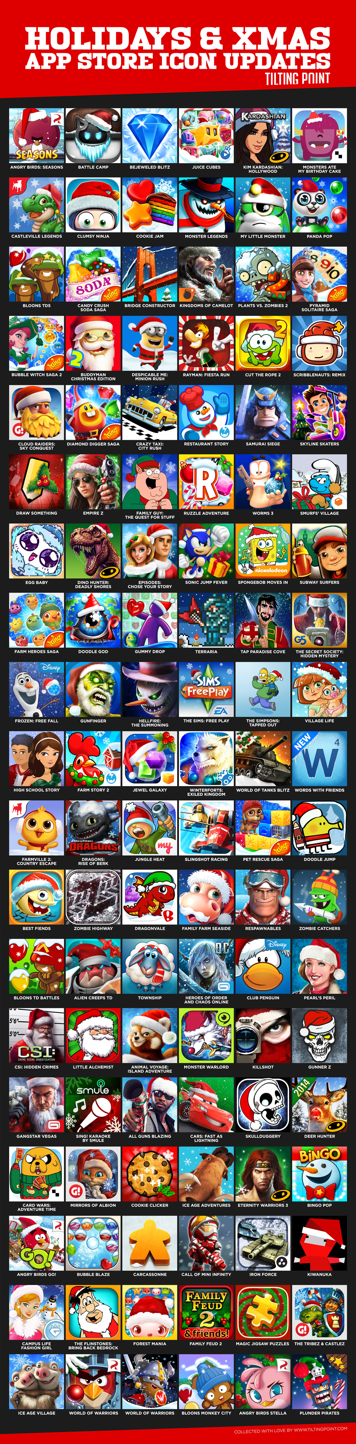 Mobile App Icons Collection - Winter Holidays and Christmas case studies