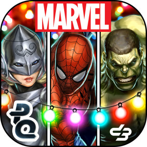 Marvel Puzzle Quest Holiday Christmas Game App Icon 2015