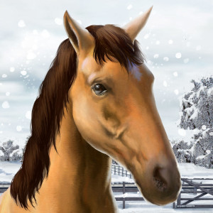 My Horse Holiday Christmas Game App Icon 2015