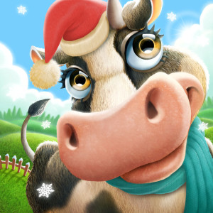 Village and Farm - Holiday Christmas Game App Icon 2015